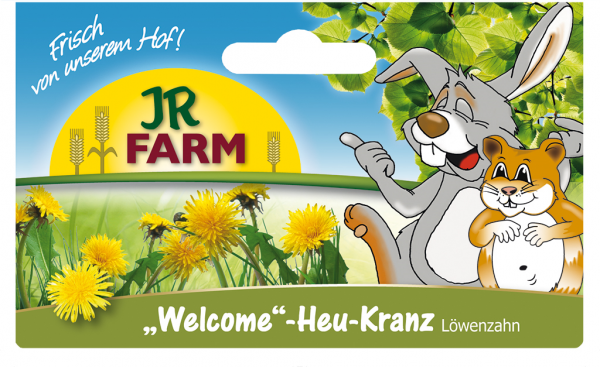 "JR Farm Heu-Kranz ""Welcome"" Löwenzahn"
